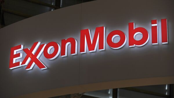 Logo of US oil and gas giant ExxonMobil - Sputnik International