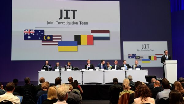 Members of a joint investigation team present the preliminary results of the criminal investigation into the downing of Malaysia Airlines flight MH17 , in Nieuwegein - Sputnik International