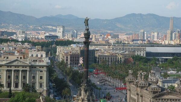 Columbus Statue, Barcelona, Spain - Sputnik International