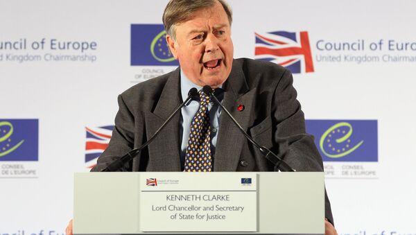 Britain's Former Chancellor Ken Clarke speaks during a news conference at the Council of Europe Conference at the Brighton Centre, Brighton, East Sussex, on April 19, 2012. - Sputnik International