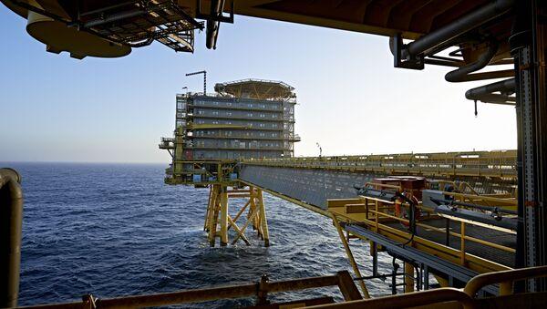Denmark's A.P. Moller-Maersk's oil rig in the North Sea named Halfdan (File) - Sputnik International