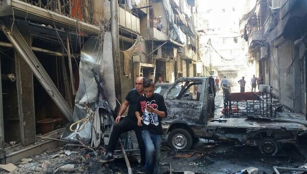 Aftermath of mortar shelling of Aleppo - Sputnik International
