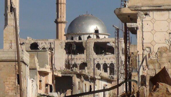 Destruction is seen in the Syrian city of Hama - Sputnik International