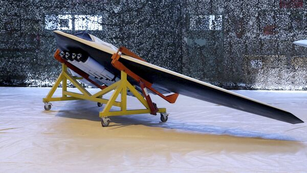 The new attack drone called Saegheh or Thunderbolt in an undisclosed location in Iran. - Sputnik International
