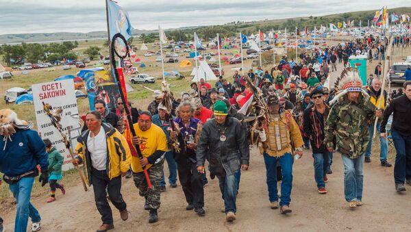 DAPL Protesters in Cannon Ball, North Dakota - Sputnik International