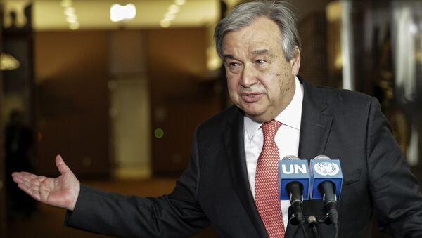 Antonio Guterres speaking at the UN headquarters in New York. (File) - Sputnik International
