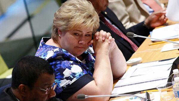 Norway's Prime Minister Erna Solberg (File) - Sputnik International