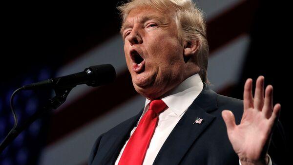 Republican presidential nominee Donald Trump speaks at a campaign rally in Reno, Nevada, US, October 5, 2016. - Sputnik International