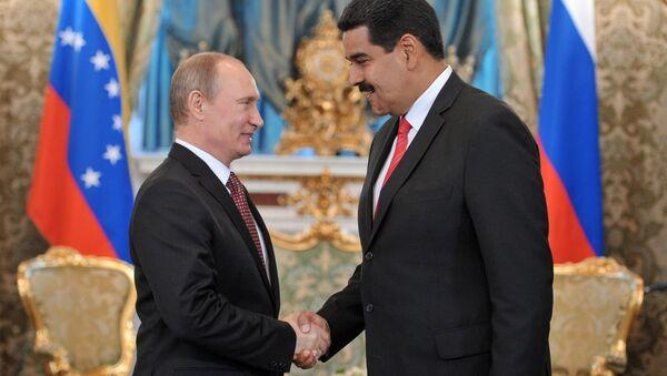 Russian President Vladimir Putin meets in the Kremlin with Nicolas Maduro - Sputnik International