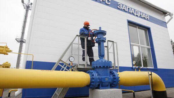 Gazprom's Zapadnaya gas distribution station in Belarus - Sputnik International