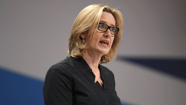 British Home Secretary Amber Rudd delivers her keynote address at the annual Conservative Party Conference in Birmingham, Britain, October 4, 2016 - Sputnik International
