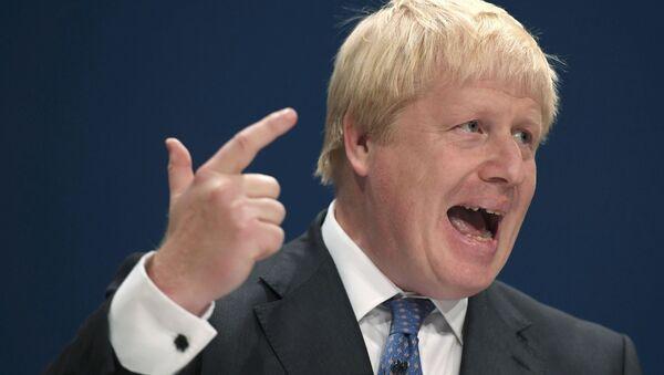 Britain's Foreign Secretary Boris Johnson speaks at the annual Conservative Party Conference in Birmingham, Britain, October 2, 2016. - Sputnik International