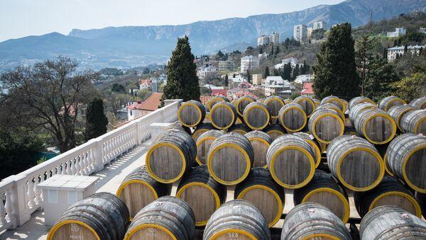 The Massandra wine-making factory in the Crimea - Sputnik International