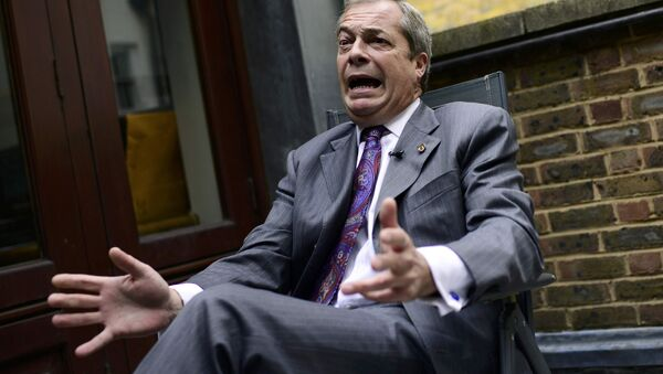 Former UKIP leader Nigel Farage speaks during an interview with Reuters at his Westminster office in London, Britain September 21, 2016. - Sputnik International