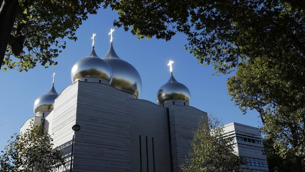 A view shows the Russian Orthodox Cathedral Sainte-Trinite and spiritual centre before its inauguration in Paris, France, October 4, 2016. - Sputnik International