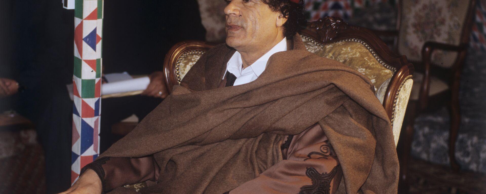 Muammar al-Gaddafi, leader of Libya was accorded the honorific Guide of the First of September Great Revolution of the Socialist People's Libyan Arab Jamahiriya. (File) - Sputnik International, 1920, 06.09.2021