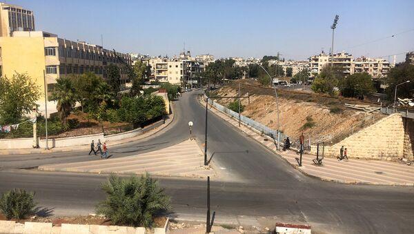 The area of the humanitarian corridor in Aleppo, Syria - Sputnik International