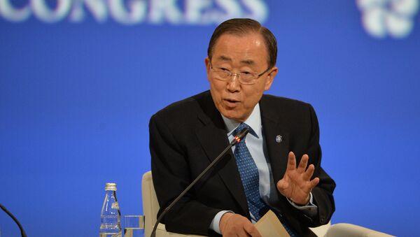 U.N. Secretary-General Ban Ki-moon speaks at the opening ceremony of the 20th St. Petersburg International Economic Forum. (File) - Sputnik International