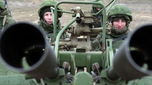 An anti-aircraft gun during the snap combat readiness. (File) - Sputnik International