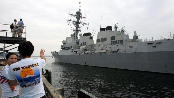 U.S. Navy's guided-missile destroyer USS McCampbell (DDG85) arrives at Yokosuka naval base, south of Tokyo, Monday July 9, 2007 - Sputnik International