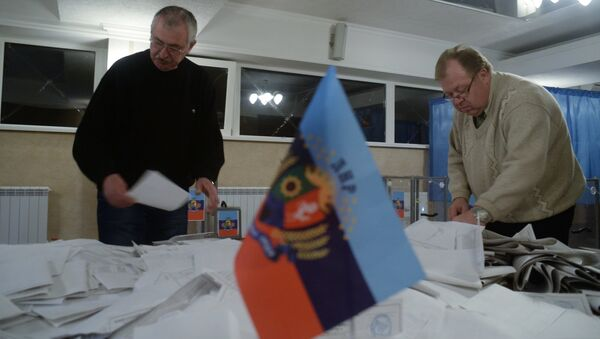 Polling station in the Lugansk People's Republic. File photo - Sputnik International