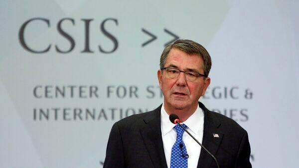 US Defense Secretary Ash Carter speaks at the Center for Strategic and International Studies in Washington, US, October 28, 2016. - Sputnik International