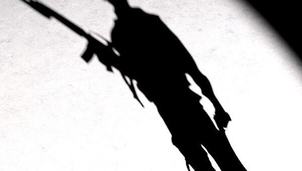 A silhouette of a man with a gun - Sputnik International