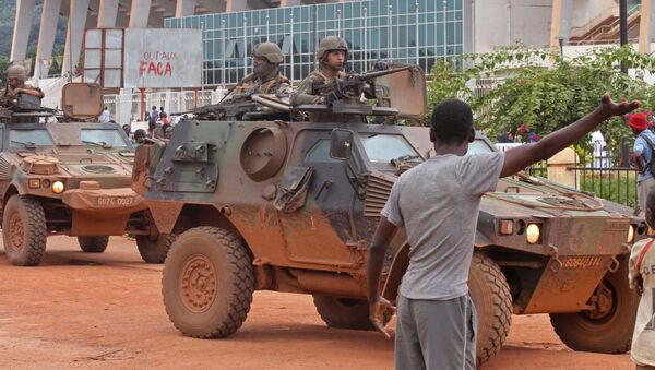 French peacekeeping soldiers patrol the city of Bangui, Central African Republic (File) - Sputnik International