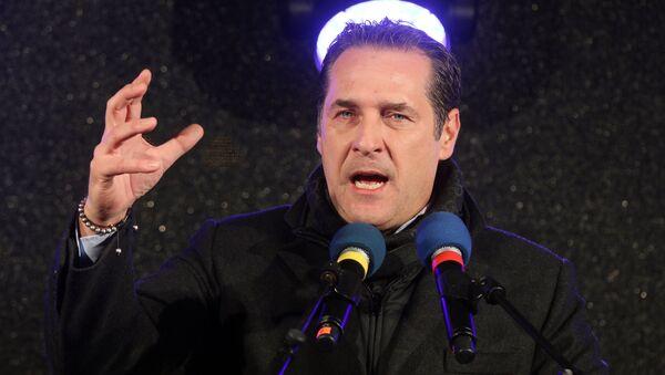 Heinz-Christian Strache head of Austria's Freedom Party (File) - Sputnik International