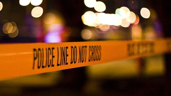 Police tape at the crime scene. - Sputnik International