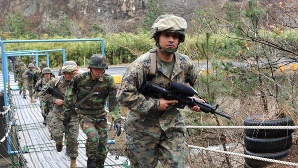 US and South Korean marines carrying out drills. File photo. - Sputnik International