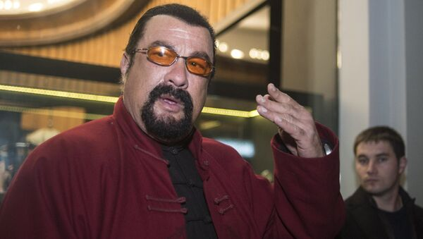 US actor Steven Seagal attends the presentation of the new model of the U-Boat capsule watch - Sputnik International