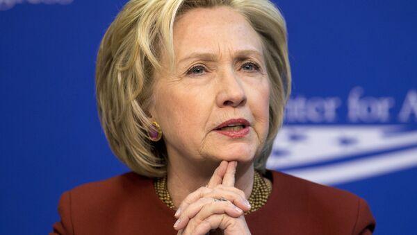 Former Secretary of State Hillary Rodham Clinton speaks in Washington. (File) - Sputnik International