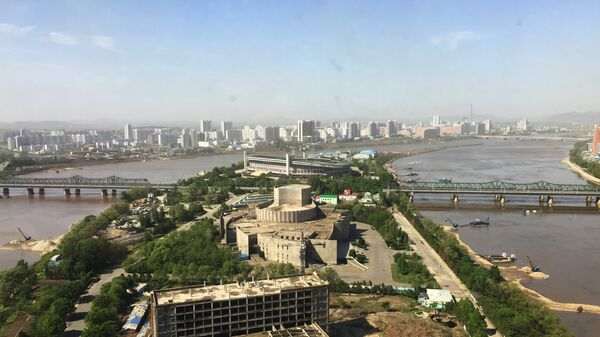 A view of Pyongyang from one of the modern high-rise buildings in the city. - Sputnik International