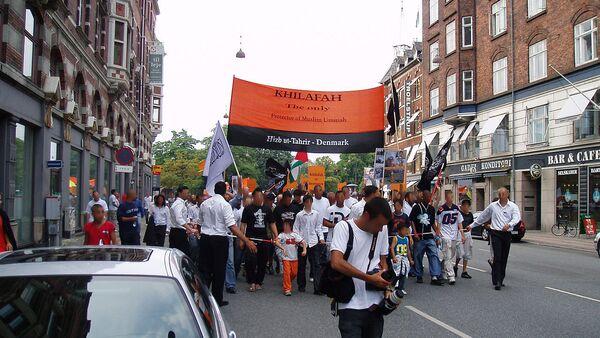 Hizb ut-Tahrir demonstrating in Copenhagen (file) - Sputnik International