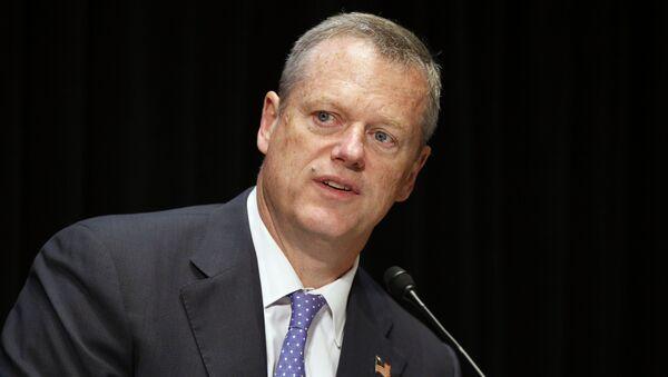 Massachusetts Gov. Charlie Baker speaks during an opioid abuse conference Tuesday, June 7, 2016, in Boston - Sputnik International