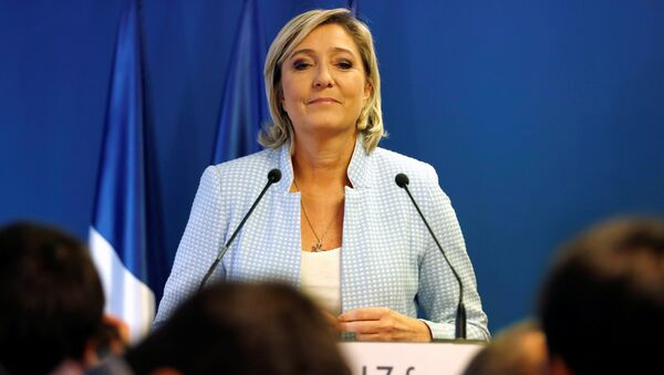 Marine Le Pen, French National Front (FN) political party leader, delivers a statement on U.S. election results at the party headquarters in Nanterre, France, November 9, 2016 - Sputnik International