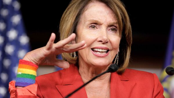 House Minority Leader Nancy Pelosi (D-CA) speaks during a media briefing on Capitol Hill in Washington, U.S., July 7, 2016 - Sputnik International