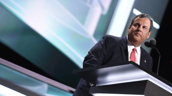 Governor Chris Christie addresses the audience on the second day of the Republican National Convention on July 19, 2016 at the Quicken Loans Arena in Cleveland, Ohio - Sputnik International
