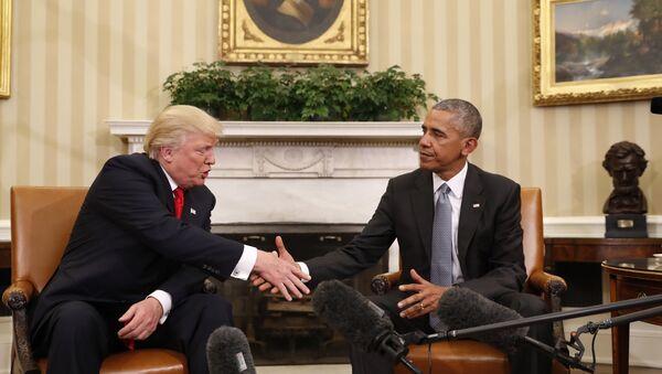 Obama and Trump Meet at White House - Sputnik International