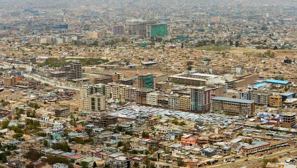 A general view of Kabul city beneath Koh-e Asmai, popularly called the TV Mountain - Sputnik International