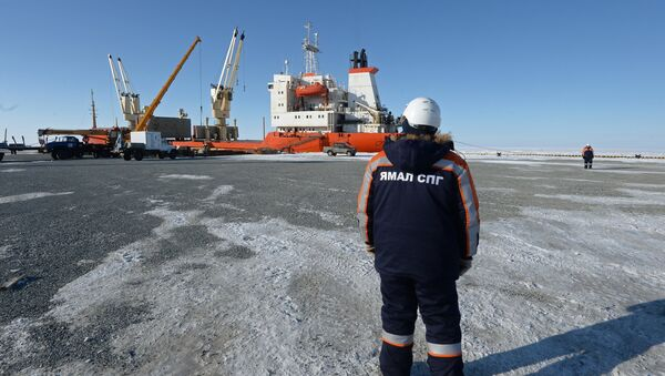 Liquefied natural gas (LNG) plant construction in Yamal, Russia. - Sputnik International