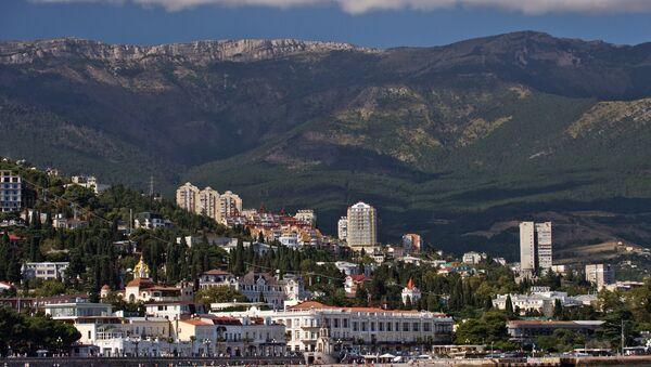 Crimea, Russia. Yalta as seen from the Black Sea - Sputnik International