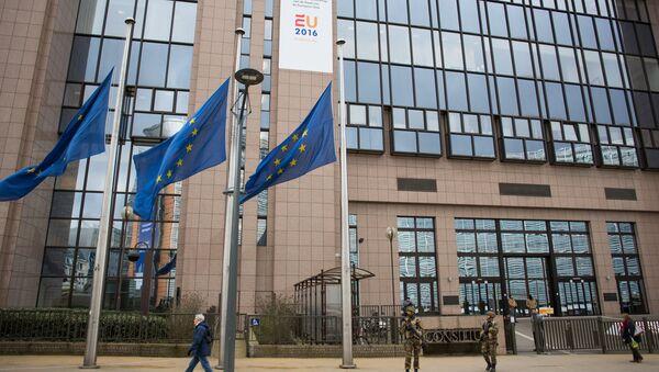 The European Parliament building in Brussels. (File) - Sputnik International