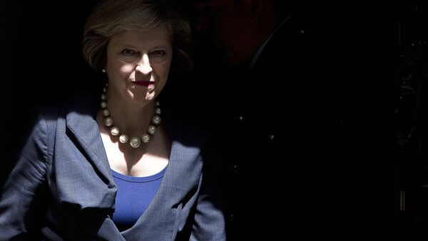 British Prime Minister Theresa May exits 10 Downing Street in London on July 26, 2016. - Sputnik International