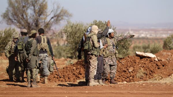 Rebel fighters gather during their advance towards the Islamic State-held city of al-Bab, northern Syria October 26, 2016 - Sputnik International