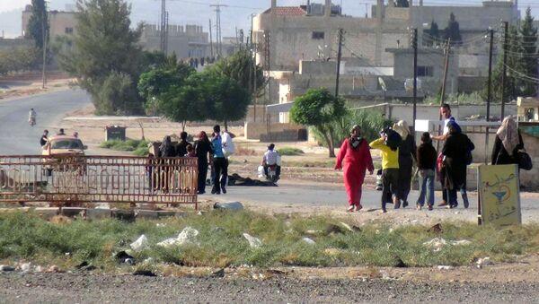 Civilians leaving the town of Suran, in Hama province, Syria (File) - Sputnik International