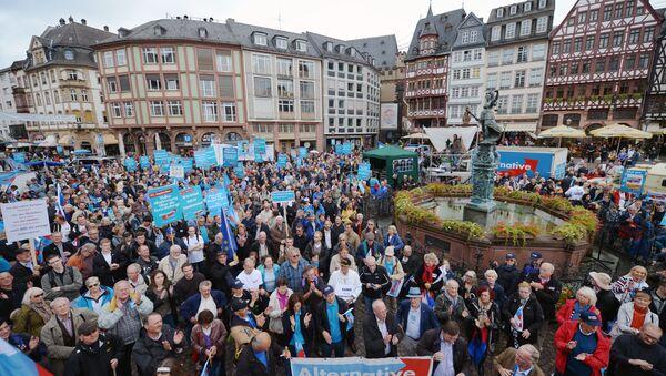 Supporters of Germany's anti-euro party Alternative for Germany (AfD, Alternative fur Deutschland) party - Sputnik International