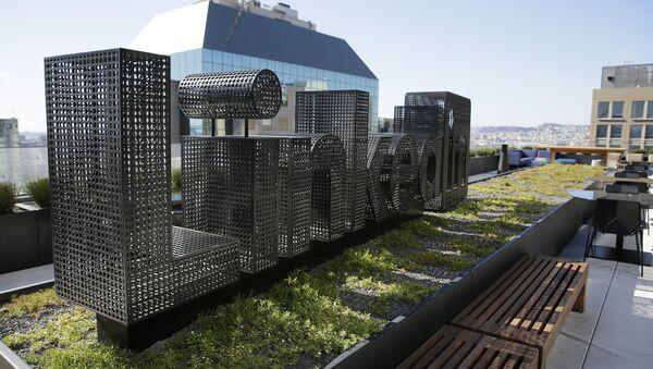 A sculpture is seen on a terrace outside the offices of LinkedIn Thursday, Sept. 22, 2016, in San Francisco - Sputnik International