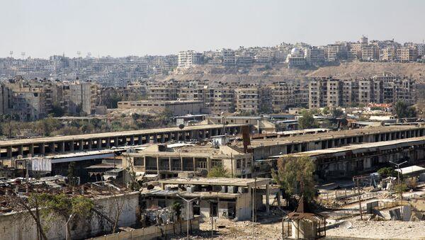 A picture from a rebel-held eastern neighbourhood of Aleppo. (File) - Sputnik International